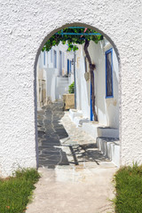 Traditional Greek architecture on Mykonos island