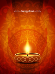 Artistic background design for Diwali