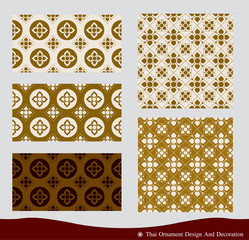 Vector of Thai Ornament design and pattern