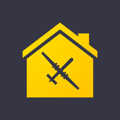 House icon with a drone