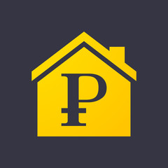 House icon with a currency sign