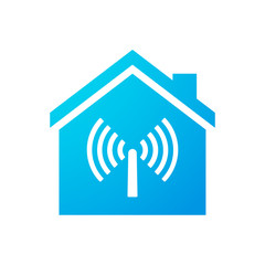House icon with an antenna