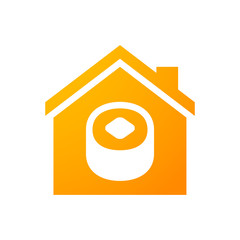 House icon with a sushi