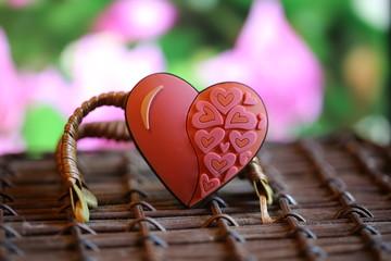 old basket heart