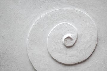 white Spiral cement  pattern
