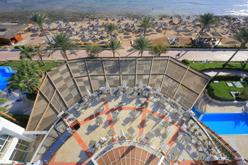 Resort in Egypt aerial view