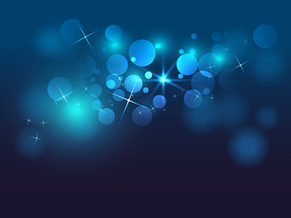 blue bokeh abstract star background