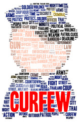 Curfew word cloud shape