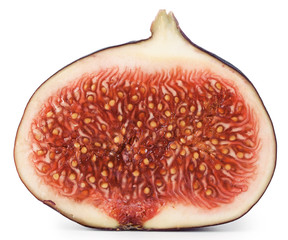 Cut the middle of figs with seeds