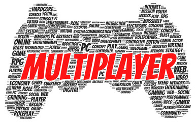 Multiplayer word cloud shape