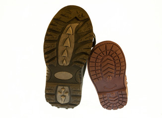the lower part of the sole baby shoes