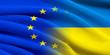 canvas print picture - EU and Ukraine.