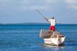 pêcheur rodriguais se déplaçant à la