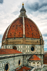 The Basilica of Saint Mary of the Flower in Florence, Italy