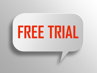 Free trials 3d speech bubble