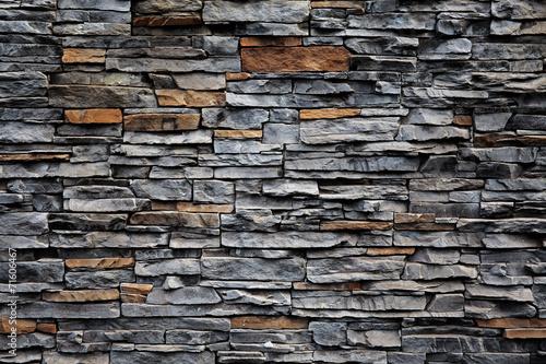 Leinwandbild Motiv Old brick wall from a stone