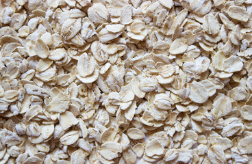 background soft light flakes of rolled oats