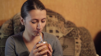 Woman Drinking Mate