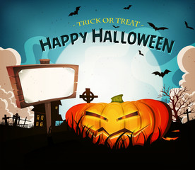 Halloween Holidays Landscape Background