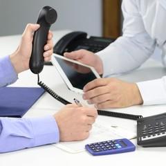 Business mit Telefon