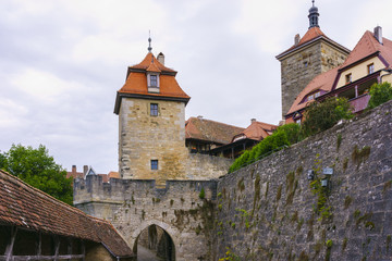 Cloudy morning in Rothenburg Ob Der Tauber