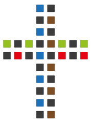 buntes Kreuz