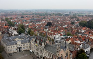 View of Bruges from Belfry Tower (Belfort)