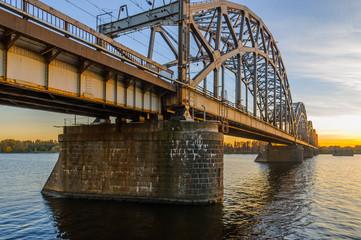 Railroad Bridge in Riga