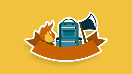 Camping elements Animation Design, HD 1080