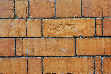 Old brick wall in England