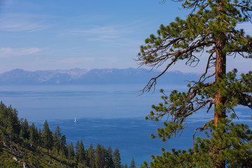 Lake Tahoe - From Tunnel Creek with Copy Space