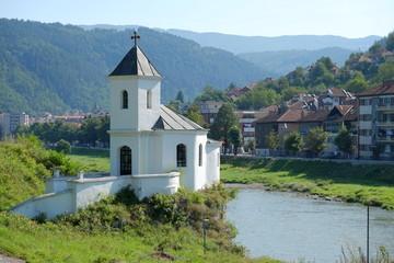 Small Church Along River In Prijepolje, Serbia