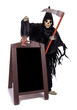 Grim Reaper with empty menu