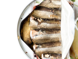 Canned smoked sprats