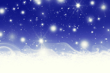 stars bokeh and snow illustration background
