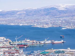View of Hakodate cityscape,Hokkaido, Japan