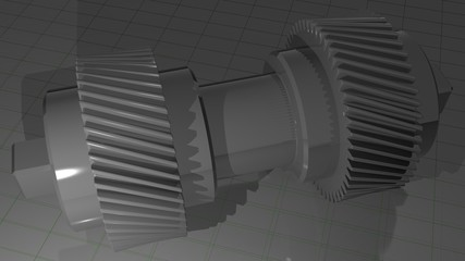 Double helical gear - Pinion