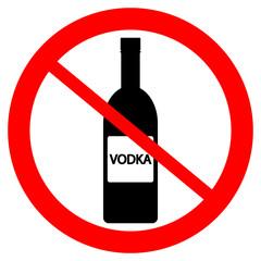 No vodka bottle sign