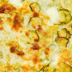 Courgettes zucchini omelette