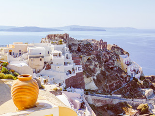 Retro look Oia Ia in Greece