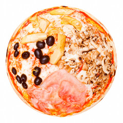 Retro look Four Seasons Pizza