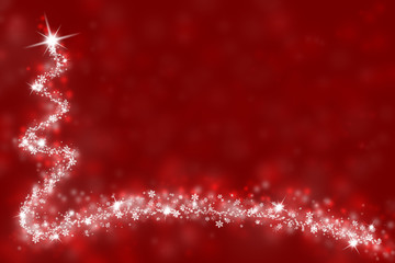 Simple red Christmas illustration