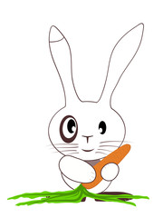 the small leveret with carrots
