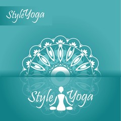 yoga style ornament with reflection design