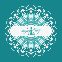 ornament in the circle yoga style design decorative
