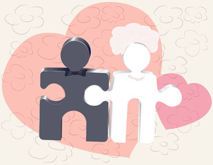 newlyweds in puzzles