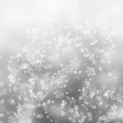Simple silver snowflake background