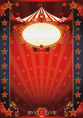 circus red and night fantastic poster