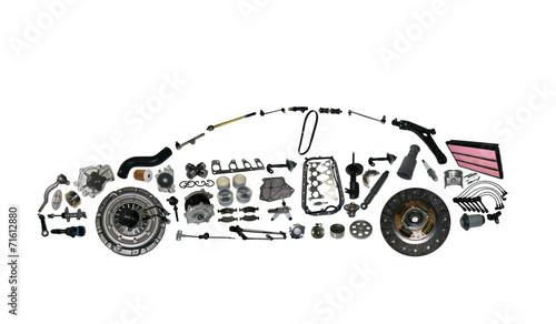 canvas print picture car spear parts