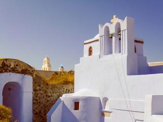 Retro look Pyrgos in Greece